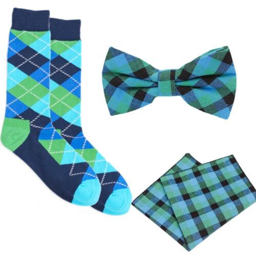 Matching Neck tie,BowTie,Pocket Square /&Sock Sets plaid tartan argyle red orange