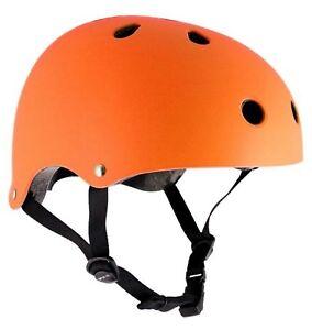 SFR-034-Essentials-034-CASCO-FLUO-ARANCIO-Skateboard-Scooter-Roller-Derby-XXS-S-M-L-XL
