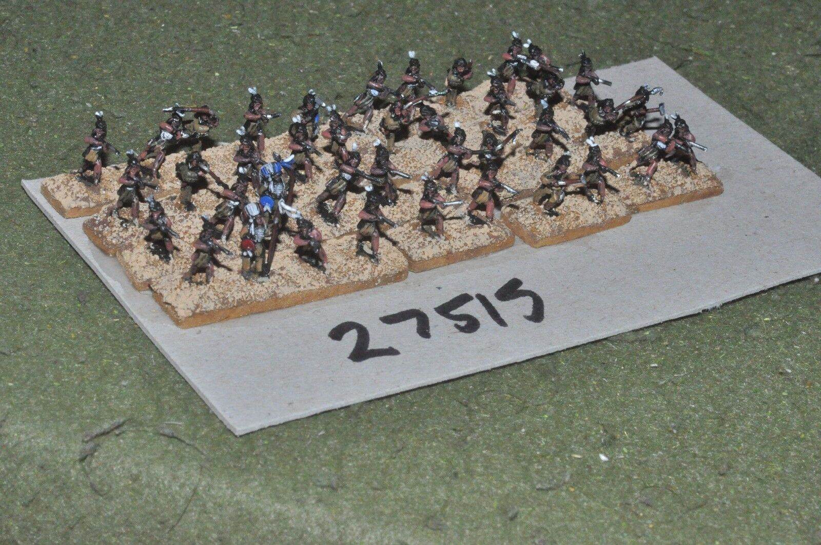 10mm ACW   indian - warriors 40 figures - inf (27515)
