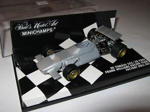 1-43-Williams-DETOMASO-505-38-Ford-Roll-Out-1970-MINICHAMPS-400700099-neuf-dans-sa-boite-NEUF