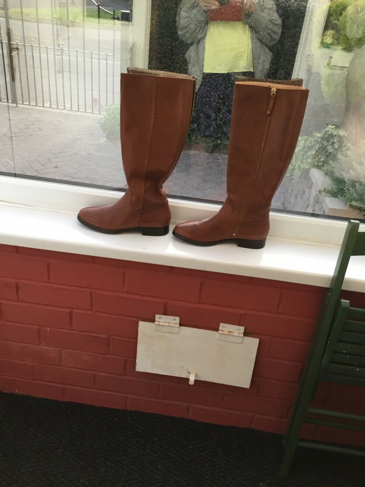 Boden Size 40 (6.1/2) Tan Malvern Long Boots Worn A Handful Of Times Great Cndtn
