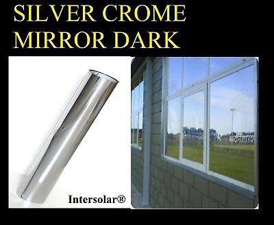 "Mirror Reflecive Tint Silver 1/% 40/""x 50/' Window Film One Way Intersolar®Dark"