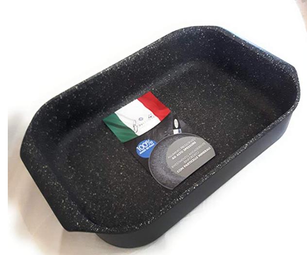 Boniotti TEGLIA LASAGNERA Forno Alluminio PRESSOFUSO Mineral cm 34x24 h 9 cucina