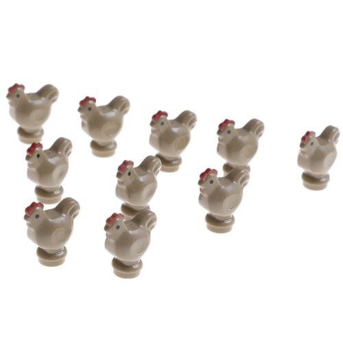 10Pcs farm chicks garden city street pet shop model building bricks kits toysHC