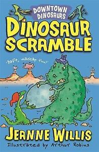 Very-Good-Willis-Jeanne-Dinosaur-Scramble-Downtown-Dinosaurs-Paperback-Boo