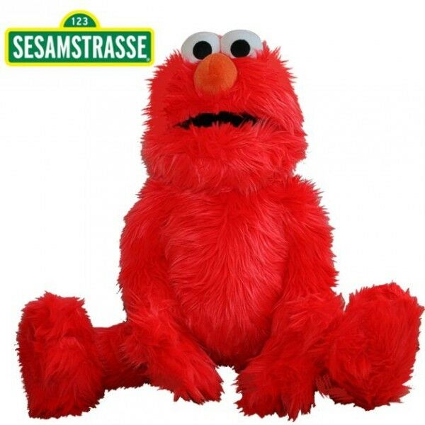 Elmo   Hand Puppet   Sesame Street   75 cm   Plush   Soft Toy   Stuffed Animal