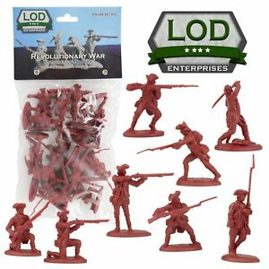 BARZSO-LOD-American-Revolution-British-Regular-Army-16-Plastic-Figures-FREE-SHIP