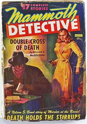 Mammoth Detective Pulp Magazine May 1943 Vol. 2 No. 3 William P. McGivern