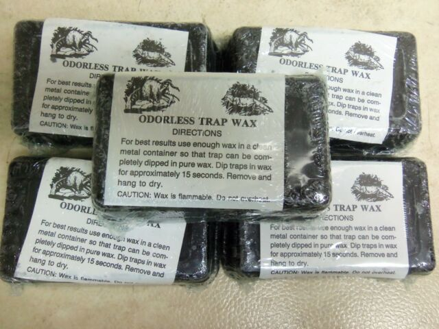 3 white Trap Wax 1lb bar Trap Traps Trapping odorless New sale