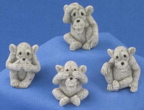 MINI CHIMP ASST Set of 4 Quarry Critters #46520 NEW CUTE-NICE GIFT HOME DECOR