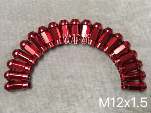 20x RED JDM Forged Aluminum wheel lug nuts M12 x 1.5mm integra rsx nsx tsx
