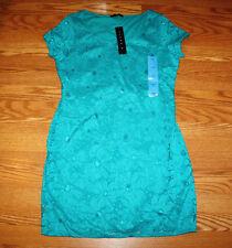 Womens Tiana B Dress Lace Turquoise Blue Size Small S
