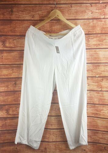 All Sizes New J Jill White Soft Rayon Twill Full Leg Crop Pants