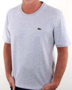 3142f5d5 Lacoste Crew Neck T-shirt in Silver Chine (Grey Marl) - short sleeve ...