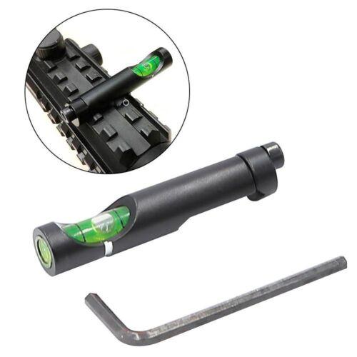 "2PC Aluminum Spirit Bubble Level for 11mm 3//8/"" Dovetail Rail Rifle Scope Mount *"