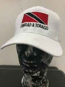 TRINIDAD /& TOBAGO FLAG BASEBALL CAP//HAT REGGAE RASTA BLACK PEAK