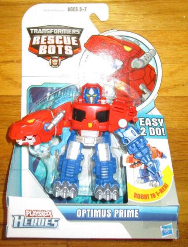 Transformers Rescue Bots Optimus Prime Playskool Heroes Robot T-Rex roar Rescue