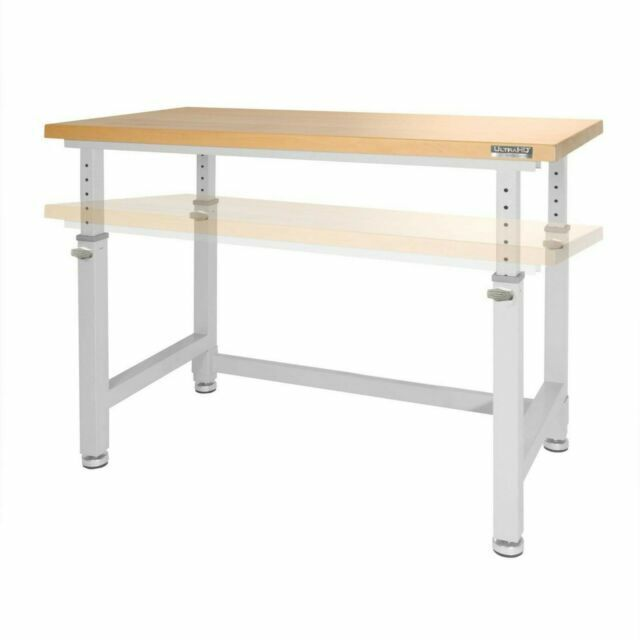 Seville Classics Uhd20288b Adjustable Wood Top Workbench For Sale Online Ebay