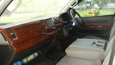 Fit For Commutor Hiace 2005-2013 Dash Board Wood Interior Cover  (11pcs)
