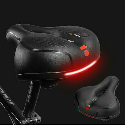 Comfort Extra Wide Big Bum Bike Bicycle Gel Soft Pad Saddle Seat Sporty Road MTB