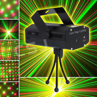 Stage Laser Projector Strobe LED Lighting Adjustable Disco Club DJ Party Light