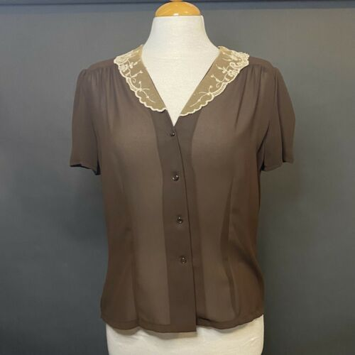 marie claire of california brown vintage button u… - image 1