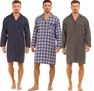 negozio online dcc8f da847 Dettagli su Uomo Haigman Abbigliamento da notte SPAZZOLATO 100% Cotone 7394  Camicia da notte