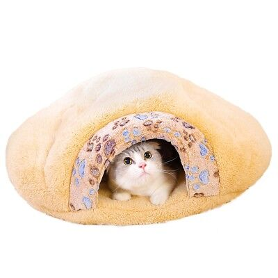 Small Pet Cat Dog House Kennel Puppy Cave Sleeping Bed Soft Mat Pad Warm Nest