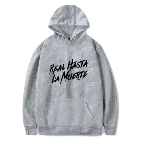 Real Hasta La Muerte Printed Hoodie Anuel AA Album Sweatshirt Pullover Top Coat