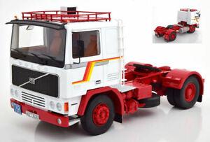 Camion Camion Volvo F1220 Blanc / Rouge à l'échelle 1/18, modèle Kk
