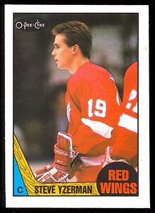 Steve Yzerman 1987//88 OPC O-PeeChee Detroit Red Wings Hockey Card # 56