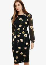 Phase Eight Pemberly Floral Maxi Short Sleeve Dress Black Size UK14 RRP130
