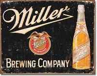 Miller Brewing Tin Sign Vintage Bottle Art Beer Bar Rustic Metal Wall Decor 1649
