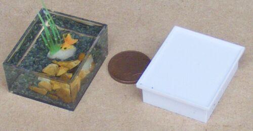 1:12 SCALA Fan Coda Pesce Rosso in una ciotola acquario giardino di casa di bambole tumdee Pet