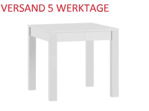 Tisch Küchentisch Esstisch Quadratisch 80x80cm ausziehbar auf 230cm Weiß Matt