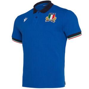 Macron Italien FIR Italy Rugby 2019 Herren Polo-Shirt Gr. M Medium *BNWT*