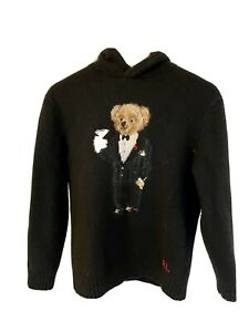 Polo Ralph Lauren Fancy Bear Hoddie Men's Sweater Wool Cashmere M NWT