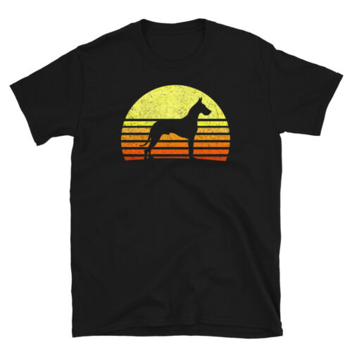 Love My Great Dane Big Dog Lover Retro Sun Vintage Cool Gift Tee Unisex T-Shirt