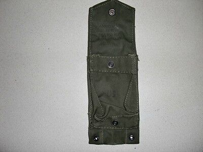 Vietnam War Era Magazine Pouch USMC M1 Rifle Canvas Single Cell Double Web Belt