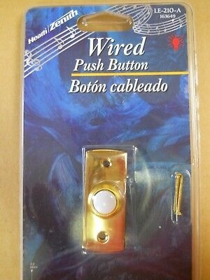 LE-228-A WIRED PUSH BUTTON FOR WIRED CHIME SYSTEMS W// TRANSFORMERS HEATH//ZENITH