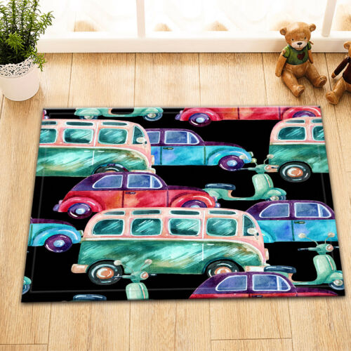 72x72/'/' Watercolor Hippie Camper Van Waterproof Fabric Bathroom Shower Curtain