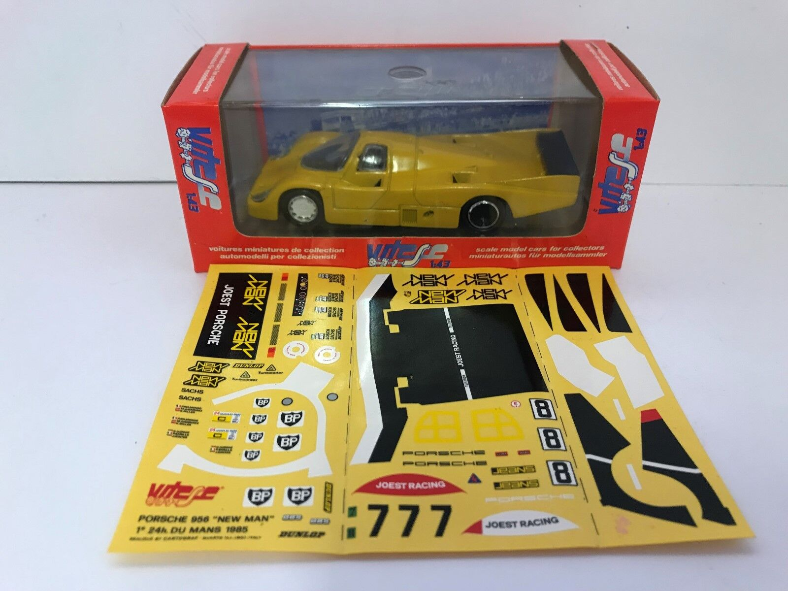 Vitesse Models 1 43 322 Porsche 956 Joest Racing 'New Man' Winner Le Mans 1985