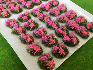 Serious-Play Mini Flower Tuft Dioramas -Scenery Model Railway Static Grass scale