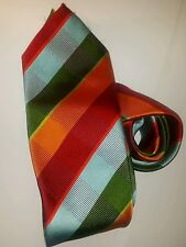 BCBG Hand Made 100% Silk Tie Mens multi colored Necktie