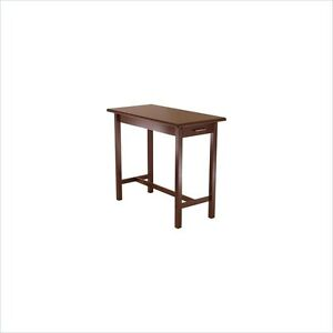 Winsome Kitchen Island Table Wood Butcher Block in Antique Walnut