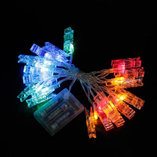 LED String Lights Unicorn Flamingo USB Lamp Photo Clip Party Fairy Light Decor