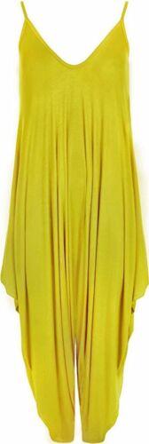 Womens Cami Romper Lagenlook Baggy Harem Jumpsuit Playsuit Ladies Plus Size