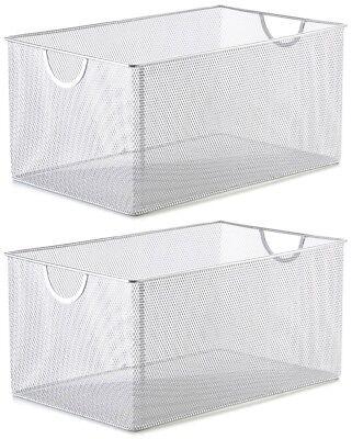 YBM HOME PLASTIC RATTAN STORAGE BOX BASKET ORGANIZER  BA426 Sold per 3 pieces