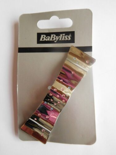 Babyliss Hair Silver Bow Barrette Hair Clip Large Wedding Office
