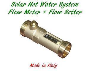 solar hot water flow meter flow regulator setter ebay. Black Bedroom Furniture Sets. Home Design Ideas